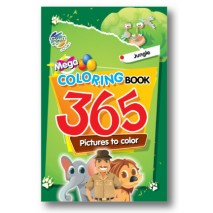 Mega Coloring Book 365 Picture - Jungle (Pack of 5)