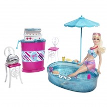 Barbie Grill To Chill Patio + Doll
