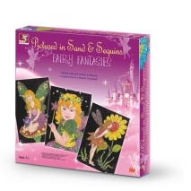 PICUTRED IN SAND & SEQUIN - FAIRY FANTASIES Toykraft