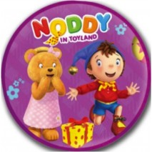 Noddy Circle Shaped Cushion - Noddy & Tessie Bear